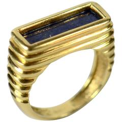 Tiffany & Co. Lapis Lazuli Gold Ring, circa 1970