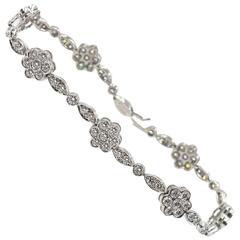 Tiffany & Co. Diamond Platinum Floral Bracelet