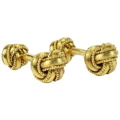 Hermes by Georges L'Enfant Gold Knot Cufflinks