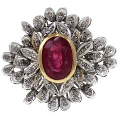 Luise Gold Diamond Ruby Ring