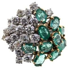 Luise Emerald Diamond Gold Ring