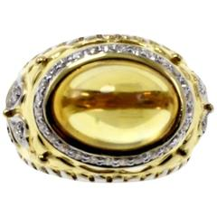Luise Topaz Diamond Gold Cocktail Ring