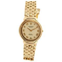Rolex Yellow Gold Cellini Quartz Wristwatch, 1990