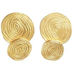 1972 Andrew Grima Gold Cufflinks