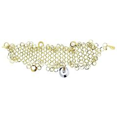 Distinctive Orlando Orlandini Yellow Gold Fluid Link Bracelet
