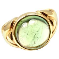 Bulgari Green Tourmaline Yellow Gold Ring