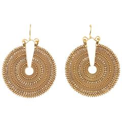 Rare and Extraordinary Gold Earrings