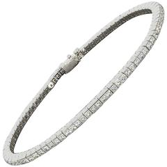 Bez Ambar Quadrillion Princess Cut Diamond Platinum Tennis Bracelet