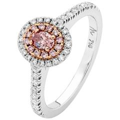Australian Argyle Pink and White Diamonds Engagement Ring