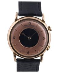 Jaeger-LeCoultre Gold Plated Memovox Manual Wind Alarm Wristwatch