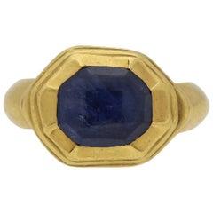 Tudor Sapphire Ring, circa 16th Century