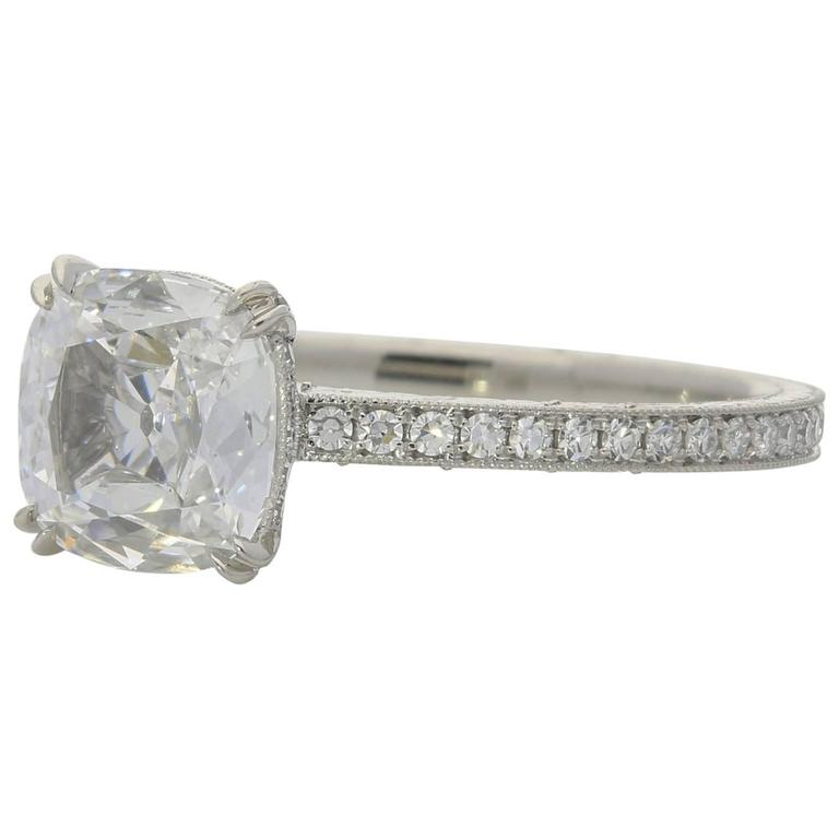 Hancocks 1.02 Carat Cushion cut diamond  ring