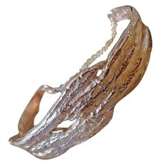 Driftwood Demi Cuff with Chain Rose Gold Overlay on Sterling Silver