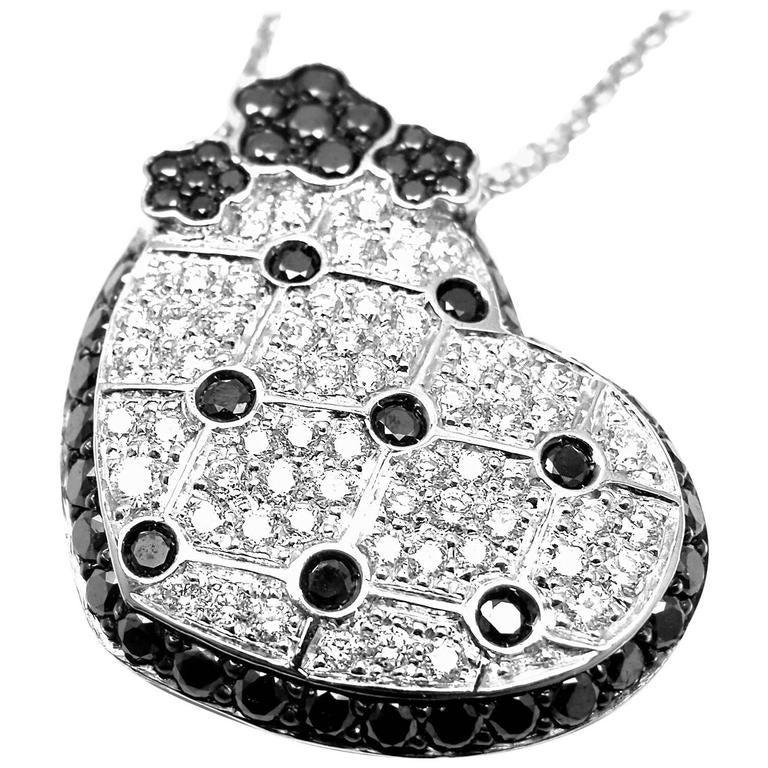 Pasquale Bruni Sapphire Lulu Diamond White Gold Pendant Necklace