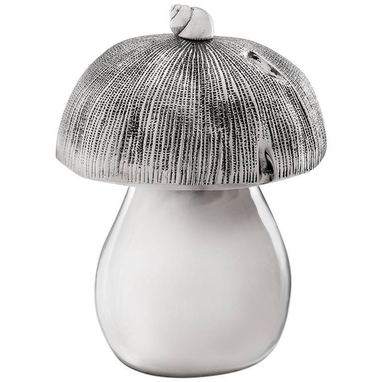 Missiaglia 1846 Sterling Silver Mushroom Pepper Grinder