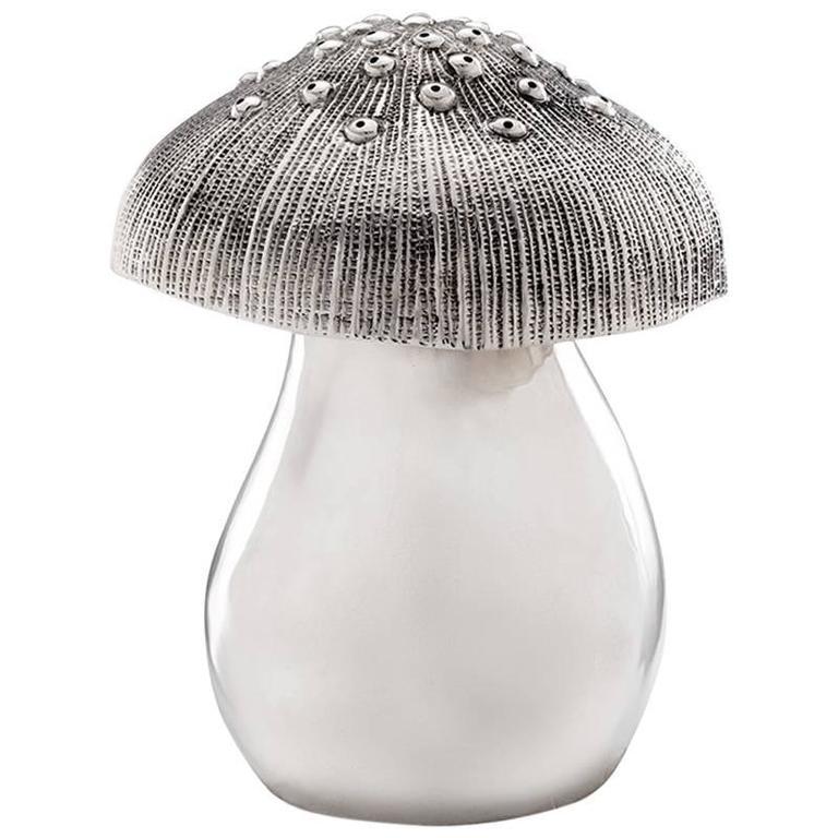Missiaglia Sterling Silver Mushroom Pepper Grinder