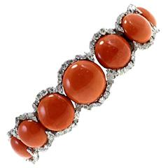 Luise Gold Diamond Coral Bracelet