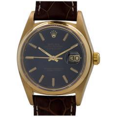 Rolex Yellow Gold Datejust Blue Dial Self Winding Wristwatch, circa 1978