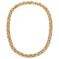 Cartier Maillon Panthère Diamond Yellow Gold Necklace