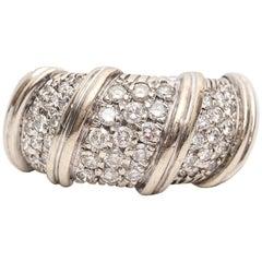 1980s Italian Made Diamond Gold Ring