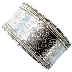Antique Silver Bangle Bracelet