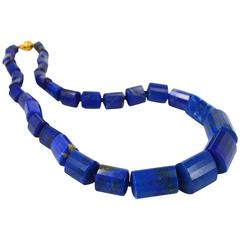 Decadent Jewels Lapis Lazuli Gold Necklace