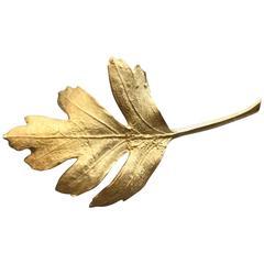 John Iversen Rare Gold Leaf Brooch