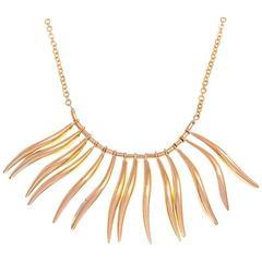 9 Carat Gold Wave Fringe Necklace