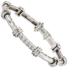 Platinum Dunay Bracelet with Diamonds
