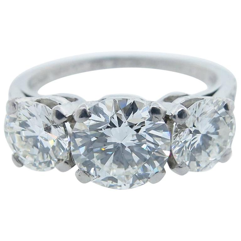 Tiffany and Co 2 2 Carat Diamond Platinum Ring For Sale at 1stdibs