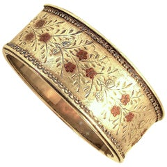Antique Silver and Gold Cuff Bracelet