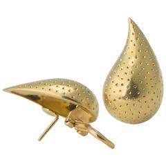 Tiffany & Co. Tear Drop Gold Earrings