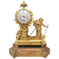 19th Century Clock Napoleon III Signed Farret