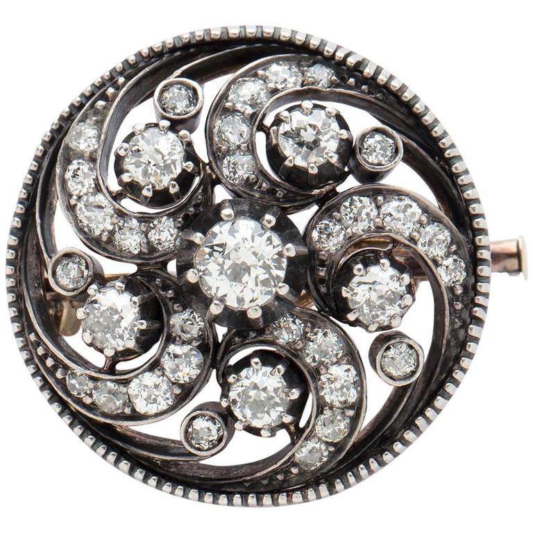 Antique Diamond Swirl Pin