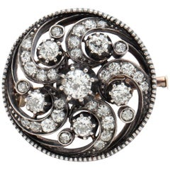 Antique Diamond Swirl Pin