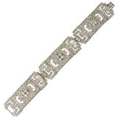 Edwardian Fine Quality Diamond Plaque Bracelet, circa 1910