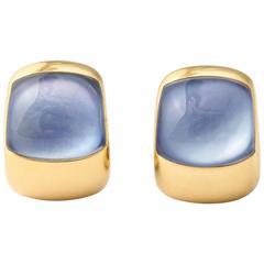 Lapis Crystal Gold Earrings