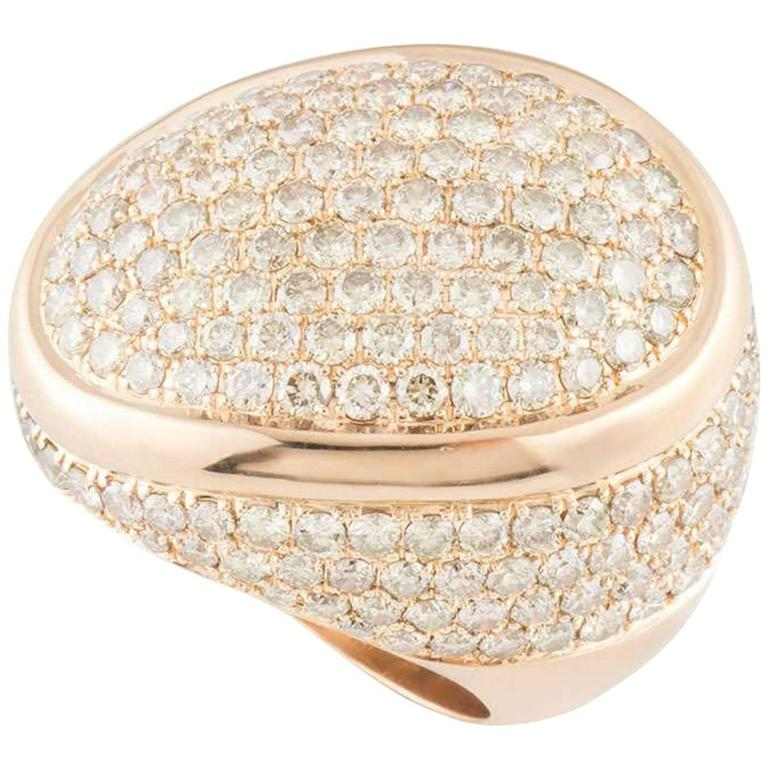 Bucherer 6.64 Carat Diamonds Rose Gold Ring