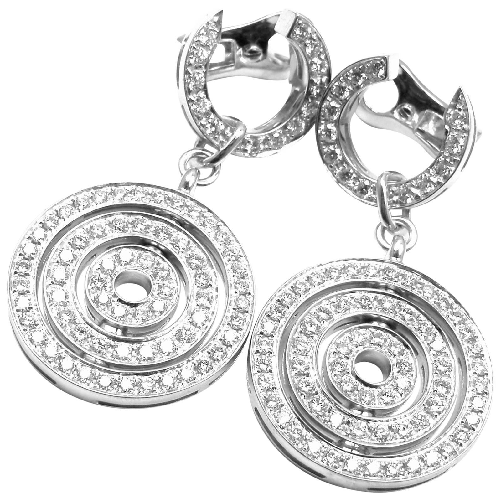 888fa375f Bulgari Astrale Full Diamond Drop White Gold Earrings at 1stdibs
