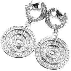 Bulgari Astrale Full Diamond Drop White Gold Earrings