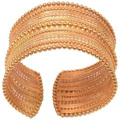 Rare and Exquisite Gold Indian Cuff Bracelet