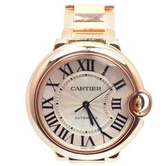 Cartier Rose Gold Ballon Bleu Automatic Wristwatch Ref 3003