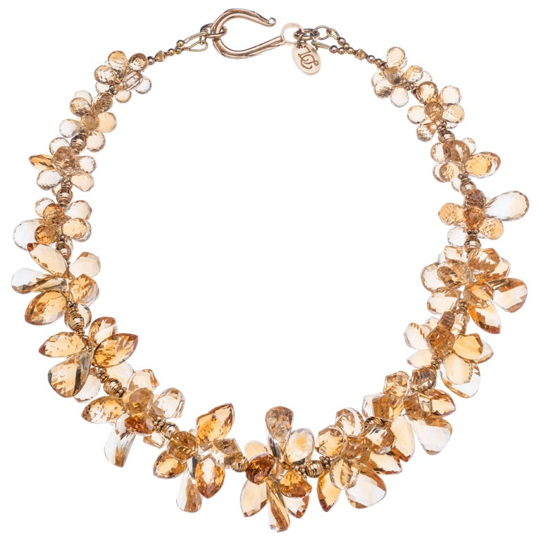 Deborah Liebman Citrine and Gold Necklace
