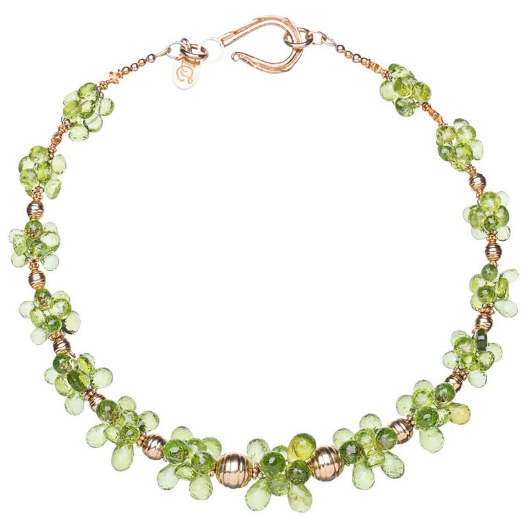 Deborah Liebman Peridot and Gold Choker