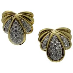 Diamond Yellow Gold Earrings