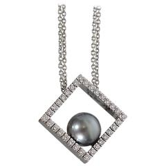 Damiani Black Pearl and Diamonds Necklace