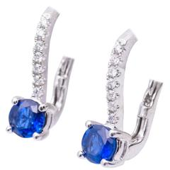 Sapphire Lever-Back Earrings