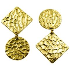 1970s Gold Reverso Earrings
