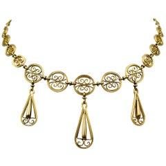 Elegant Antique Gold Necklace