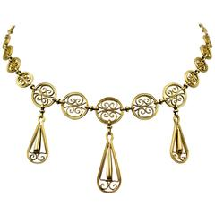 Elegant Antique Gold Necklace